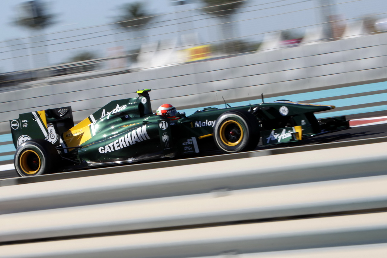 Team Lotus (Caterham F1 Team) switched from Cosworth to Renault engines without improvement in 2011