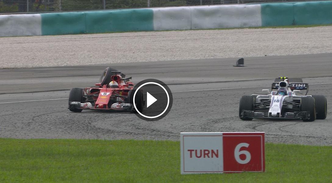 Video: Pozávodní kolize Vettela se Strollem