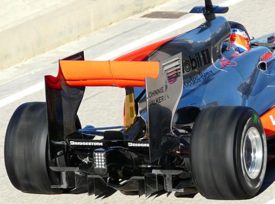 McLaren MP4-25 difuzor