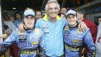 Alonso - Briatore - Fisichella