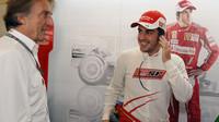 GP Abú Zabí v roce 2015 - ještě je čas na úsměvy (di Montezemolo a Alonso)