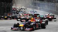 GRAFIKA: Startovní rošt v Monaku po penalizacích McLarenu, obě Ferrari z první řady - anotační obrázek