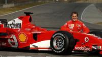 Den, kdy Schumacher poprvé usedl do Ferrari - anotační foto