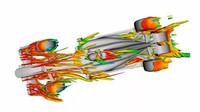 Záludnosti aerodynamiky vozů F1: Víry, úplavy, složitá křídla a matice kol - anotační foto