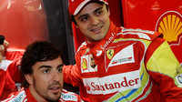 Felipe Massa s Fernandem Alonsem, kdy spolu jezdili za Ferrari