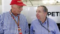 Dvě velká jména v motoristickém světě: Niki Lauda a Jean Todt.