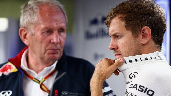 Helmut Marko se Sebastianem Vettelem