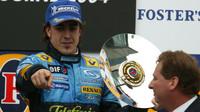 Fernando Alonso po vítězství v Melbourne s Renaultem v minulé dekádě