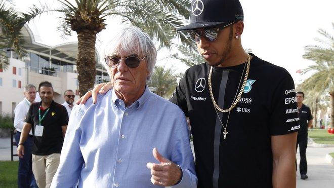 Bernie Ecclestone s Lewisem Hamiltonem