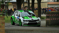 Jan Kopecký se Škodou Fabia R5 továrního týmu ŠKODA Motorsport (Foto z Českého Krumlova).