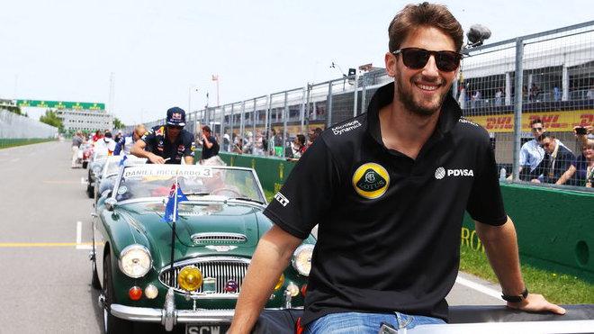 Grosjean při prezentaci týmů před startem VC Kanady.