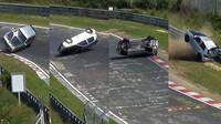 VIDEO - Těžká havárie Golfu R32 na Severní smyčce - anotační foto