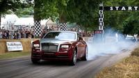 Rolls Royce Wraith na startu závodu do vrchu