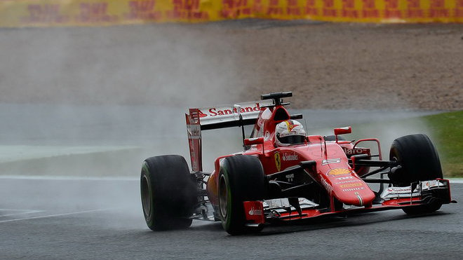 Vettel v dešti