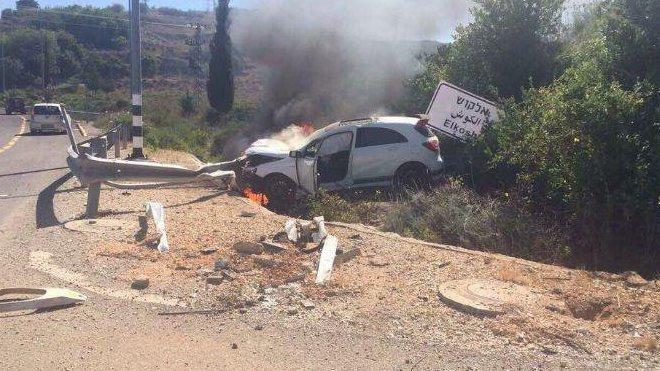 Mercedes-Benz A45 AMG v plamenech v Izraeli