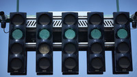 Semafory nad startovním roštem