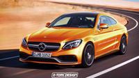 Mercedes-Benz třídy c verze 63 AMG kupé (render)