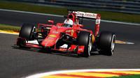Sebastian Vettel se připravuje na GP Belgie 2015