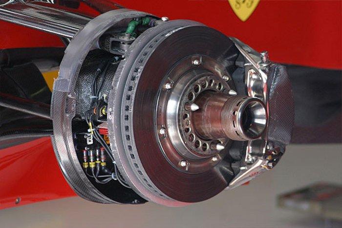Brzdy na voze Ferrari
