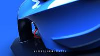 Nedávno odhalený přední splitter nového konceptu Bugatti.