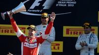 Sebastian Vettel se raduje z druhého místa, GP Itálie (Monza)