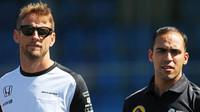 Jenson Button a Pastor Maldonado, GP Itálie (Monza)