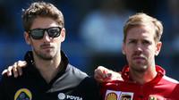 Romain Grosjean a Sebastian Vettel, GP Itálie (Monza)