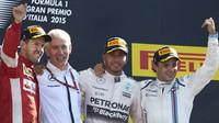 Vítězové na pódiu, GP Itálie (Monza)