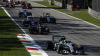 Nico Rosberg po startu, GP Itálie (Monza)