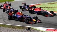 Daniel Ricciardo v první šikaně, GP Itálie (Monza)