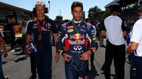 Daniel Ricciardo před startem, GP Itálie (Monza)