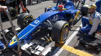 Felipe Nasr na startovnim roštu, GP Itálie (Monza)