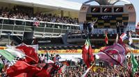 Felipe Massa a jeho radost na pódiu, GP Itálie (Monza)
