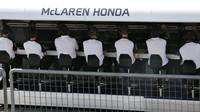 Pitwall týmu McLaren Honda, GP Itálie (Monza)
