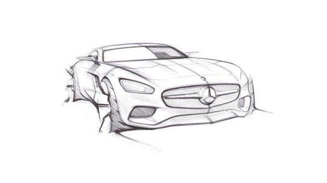 Skica připravovaného konceptu Mercedes