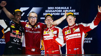 Vítězové na pódiu, GP Singapuru (Singapur)