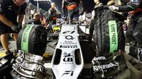 Přední křídlo vozu Force India VJM08 - Mercedes, GP Singapuru (Singapur)
