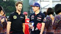 Romain Grosjean a Max Verstappen, GP Singapuru (Singapur)