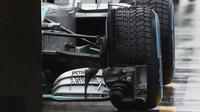 Detail předního vozu Mercedes F1 W06 Hybrid, GP Japonska (Suzuka)