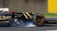 Romain Grosjean probrzdil v Suzuce