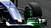 Flow-vis na předním křídle vozu Sauber C34 - Ferrari v Suzuce