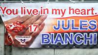 Vzpomínka na Julese Bianchiho v Suzuce