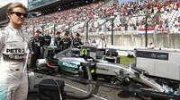 Nico Rosberg na startovním roštu v Suzuce