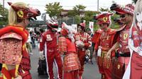 Fanoušci Ferrari v Suzuce