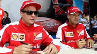 Kimi a Sebastian Vettel v Soči