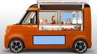Velice zajímavou variací na téma kei cars je Daihatsu Tempo alias veselá pojízdná prodejna s podsvíceným pultem a dvěma displeji. Uvnitř je navíc místo na uvaření i skladování potravin.