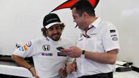 Fernando Alonso a Eric Boullier