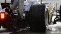 Pneumatiky za deště v Soči