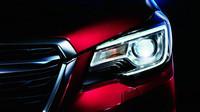 Přední světla nyní připomínají Levorg, omlazené Subaru Forester.
