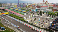 Okolí tratě v Soči